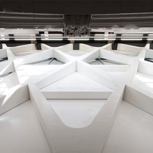 Photographie du projet de L'Artothèque de Mons, par L'Escaut+Atelier Gigogne architectures. Crédit photographique : Francois-Lichtle 2018-2019, Exposition, Centre de design, architecture, Belge, Québécois