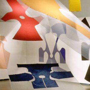 Extrait de la de l'exposition « Geneviève Sevin-Doering, Rosie Godbout » présentée au Centre de design en 2000. Crédit photo : Michel Brunelle