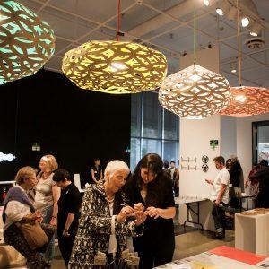 Photographies de l'événement «HAUT+FORT» présentée au Centre de design en 2014. Crédit photographique : Mathieu Rivard
