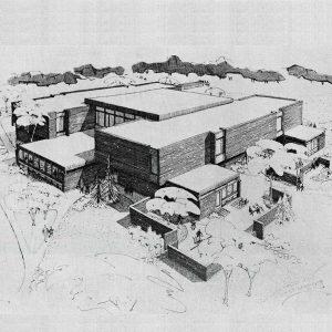 Photos des éléments historiques de l'exposition «Devoirs d'architecture» présentée au Centre de design de l'UQAM. Crédit Ouellet, Reeves, Guité, Alain