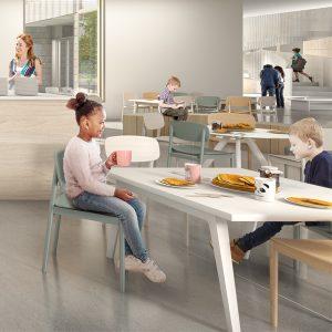 Image d'entête réalisée par AUpoint et Patriarche Canada pour le concours du Lab-École à Maskinongé, présenté dans l'exposition «Devoirs d'architecture» au Centre de design en 2020.