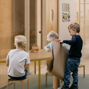 Image réalisée par Architecture Microclimat et Ardoise pour le concours du Lab-École à Saguenay, présenté dans l'exposition «Devoirs d'architecture» au Centre de design en 2020.