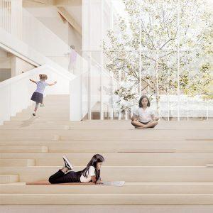 Image vignette réalisée par Chevalier Morales architectes pour le concours du Lab-École à Saguenay, présenté dans l'exposition «Devoirs d'architecture» au Centre de design en 2020.