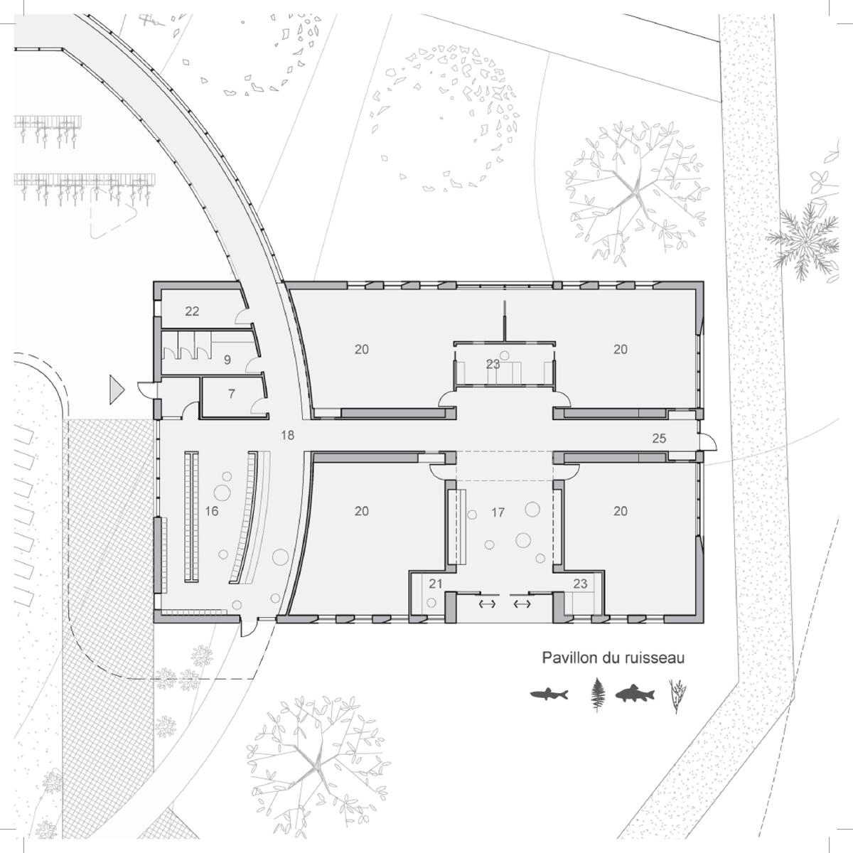 Plan d'une salle de classe par BGLA, pour le concours du Lab-École à Shefford, présenté dans le cadre de l'exposition «Devoirs d'architecture».