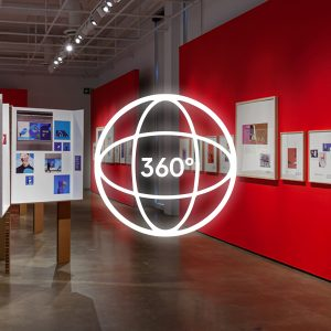 Image extraite de la visite guidée 360° de l'exposition Le design graphique, ça bouge ! au Centre de design de l'UQAM en 2019/2020