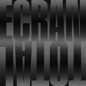 Image promotionnelle de l'exposition ÉCRAN TOTAL - Graphisme Louise Paradis