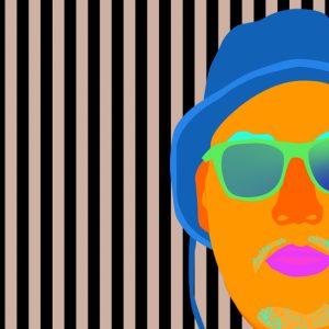 Image promotionnelle de l'exposition Le design graphique, ça bouge ! présentée au Musée Régional de Rimouski. Crédit image : Deux Huit Huit, 4:20 Dead Obies, design interactif, 2015